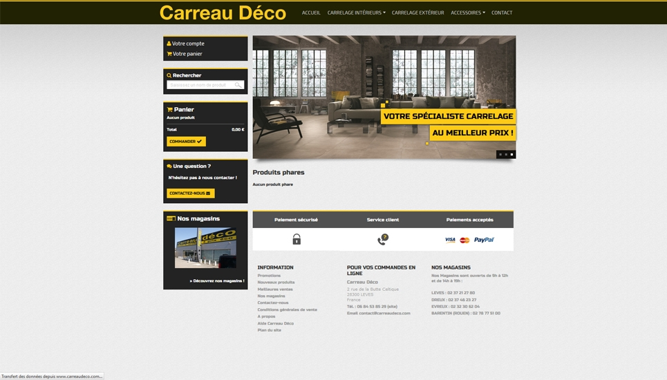 Carreau Déco Captusite Internet - Carrelage e commerce